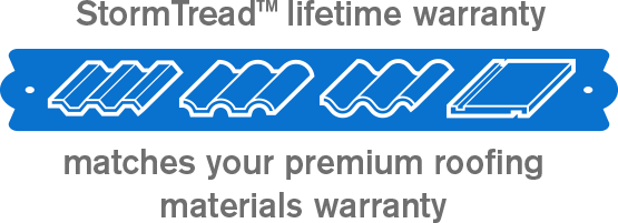 StormTread matching lifetime warranty